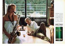 Publicité Advertising 057  1987   Café Nectar de Jacques Vabre (2pages)