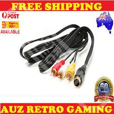 Sega Saturn RCA AV TV Cable Lead Cord PREMIUM