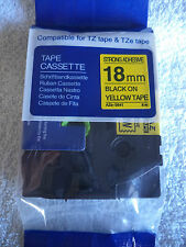 1 TZ 641 BLACK PRINT YELLOW Label Tape Compatible TZe 641 26ft 3/4 18mm BROTHER