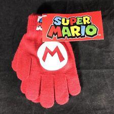Super Mario Gloves Mario Logo new Official Nintendo Red