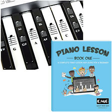 Piano and Keyboard Stickers and Piano Music Lesson and Guide Book for Kids