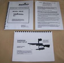 Pmi Vm68 Kp3 P68 Sheridan Paintball Gun Owners Manual and Dealer Service Guide