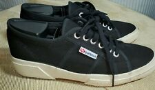 Superga Wedge Sneaker Black Canvas Women's Size 40 US Size 9