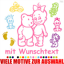 Premium HOFFIS BABYAUFKLEBER Autoaufkleber Baby Scheibenaufkleber Babyname 1302