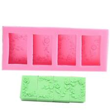 Silicone 3D Flower Veiner Mold Fondant Cake Clay Chocolate Icing Baking Tool LA