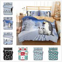3D Penguin Animal Kids Bedding Set Comforter/Duvet Cover Pillowcase Quilt Cover