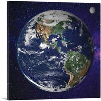 ARTCANVAS Planet Earth In Space Home decor Canvas Art Print