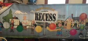 1998 Disney's Recess McDonalds Kids Meal Toy Large Advertising Banner