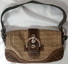 COACH Khaki Brown Mini Signature C Soho Baguette Satchel Purse Bag C05Q-3628