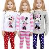 Kids Girls Minnie Mouse Tops T-shirt+Pants Leggings Nightwear Pajamas Pj's Set