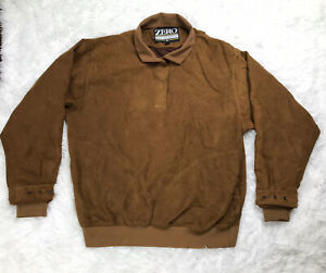 Zero Restriction Womens Lined 1/4 Zip Golf Jacket Womens Size L Large Brown