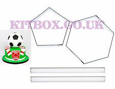 "Football Sugarcraft Cutters for 6"" Ball Cake Inc Instructions for Football Cakes"