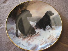 "FRANKLIN MINT ""WINTER WATCH"" ROYAL DOULTON LIMITED EDITION PLATE, 8"" DIAMETER"