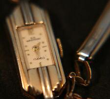 Ladies', rare, vintage art deco Swiss 17 jewel 10K Wakmann gold dress wristwatch