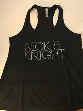 Nick And Knight Racer Back Tank With Silver Foil Letters! Never Worn! Junior L