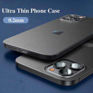 Ultra-thin Matte Case For iPhone 12 Mini 12 Pro Max Slim Shockproof Hard Cover