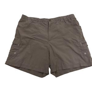 Columbia Women's Size L Large Nylon Khaki Brown Cargo Shorts