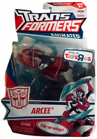 Transformers Animated Arcee Action Figure NEW Toys R Us Exclusive G1 Movie Deco