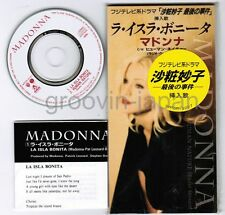 "MADONNA La Isla Bonita /Human Nature JAPAN 3"" CD w/PROMO STICKER WPDR-3027"