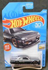 2018 Hot Wheels Car 169/365 '82 Nissan Skyline R30 - H or J Case