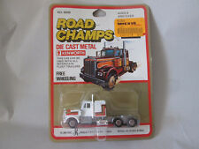 Road Champs Kenworth Cab works w/Fleet Trailers 6500 HK (Yatming White Wheels)