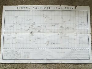 BROWN'S NAUTICAL STAR CHART, VINTAGE 1950s
