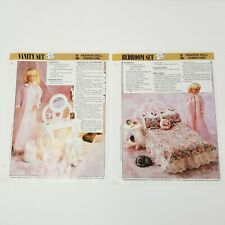Annie's Plastic Canvas Patterns for making Barbie Size Doll Wicker Furniture