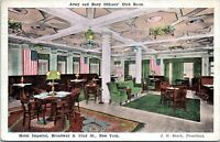 Hotel Imperial Interior View Army Navy Officers Club Room 1919 NYC Postcard