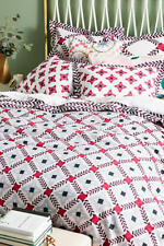 Anthropologie Bonnie and Neil Printed Duvet King