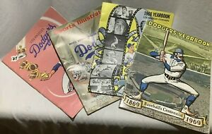 Lot of 3 1960's Los Angeles Dodgers Yearbooks 1967 1968 1969 plus SI 1969