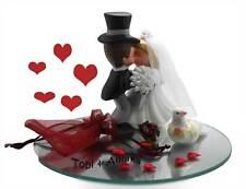GELDGESCHENK zur HOCHZEIT küssendes Brautpaar Porzellan Spiegel Deko originell
