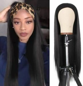 Xtrend 24Inch Headband Wig Black Long Straight None Lace Front Wig Glueless