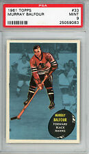 1961 Topps #33 Murray Balfour PSA 9 MINT Chicago Blackhawks