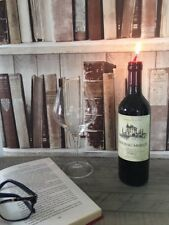 Candle Red Wine Bottle Candle Merlot Large Quirky Table Decoration