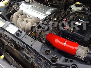 FORD PUMA 1.7 SILICONE INTAKE INDUCTION AIR FILTER INLET HOSE NON RACING RED