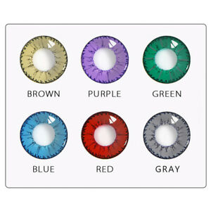 1 Paar Kreis farbige Kontaktlinsen Halloween Cosplay Party buntes Augen Make-up