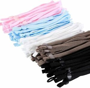 100 Pieces Elastic Band Cord with Adjustable Buckle Stretchy Earloop Cord Rope