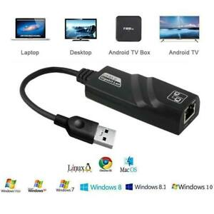 USB 3.0 à ETHERNET LAN Internet Câble Adaptateur 10/100/1000 Gigabit Connecteur