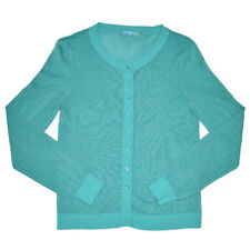Alice + Olivia Sweater Cardigan Women's Medium Turquoise *Tiny Repair