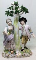 Carl Thieme Porcelain Figure Children under the tree 1902-1918 [AH891]