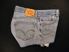 Levis 567 CUTOFF JEANS SHORTS W 30 MEASURED Loose HIGH WAISTED BUTTON FLY