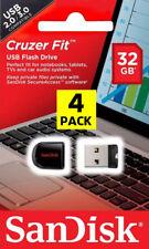 4 PACK - OEM SanDisk 32GB Cruzer Fit Mini Micro Pen Drive Flash SD USB 2.0