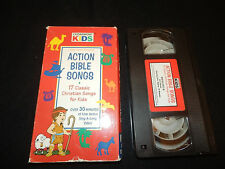 Cedarmont Kids Action Bible Songs VHS  Classic Christian Songs for Kids TESTED
