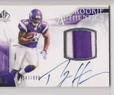 2009 SP Authentic PERCY HARVIN ROOKIE 2 color PATCH AUTO snd 347/999 vikings