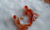 new wholesale 5PCS natural hand-carved agate pendants goldfish Accessories AAA