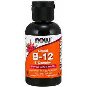 Now Foods Vitamin B-12 Liquid B-Complex Vegan Formula Made In USA 59Servings