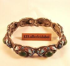 altes China Emaille Armband Silber Emaile old china silver bracelet / AS 267