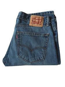 Levi's Levis Levi Strauss 505 Vintage Jeans Blu Uomo 34x34 Inches Red Tab Retro