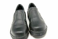 HYTEST OPANKA slip on safety shoes Womes size 8 WIDE black leather STEEL TOE