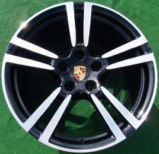 Perfect BLACK Genuine OEM Factory Porsche Panamera 20 in Forged Turbo II WHEELS